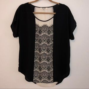 Daniel Rainn - Black & White Lace Blouse